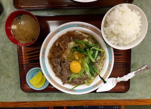 三笠食堂のスキヤキ